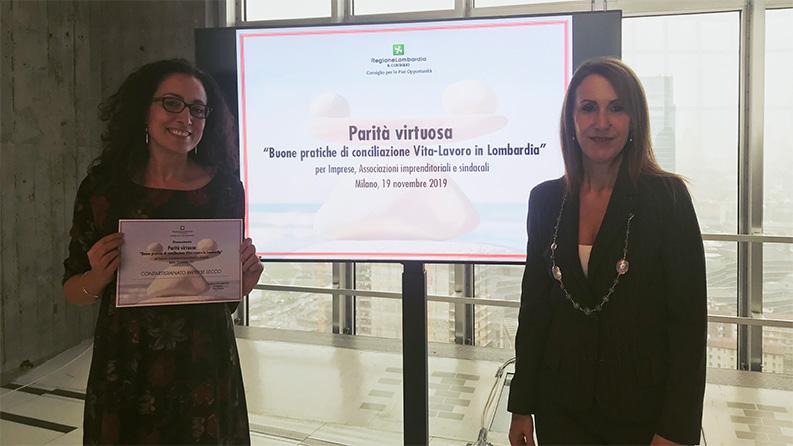 Premiazione parità virtuosa Lecco 2019 - WelFare Insieme