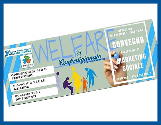 Volantino Convegno Marketing Sociale a Cremona 2019 - WelFare Insieme