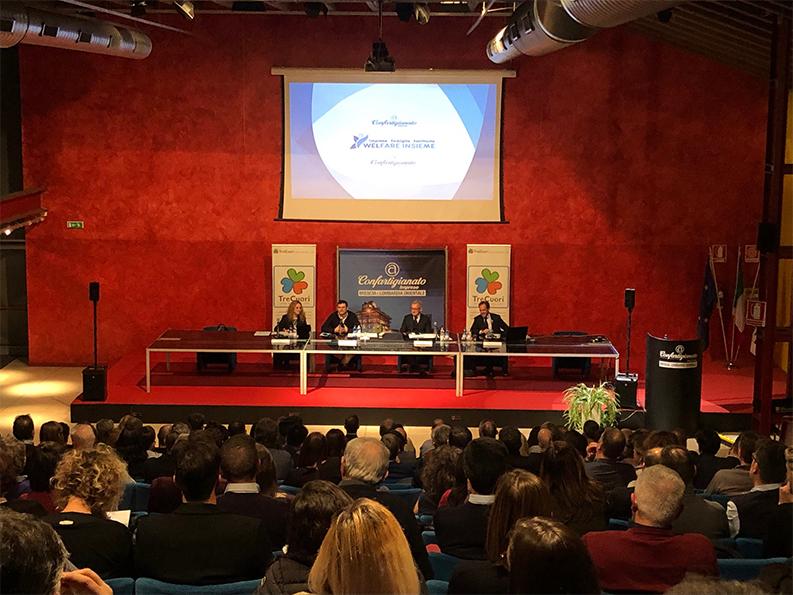 Sala conferenze congresso per nuovo sportello WelFare Insieme a Brescia 2019