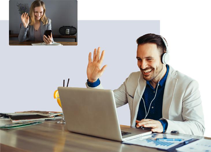 Persone in in videoconferenza - WelFare Insieme